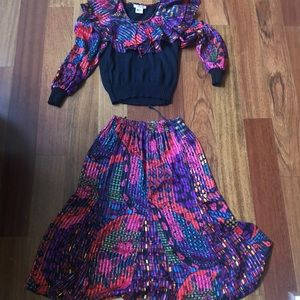 FUN SKIRT SET! SO COLOR AND SO FABULOUS